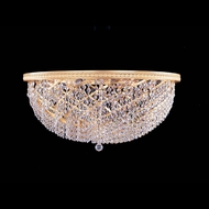 Crystorama 349-18-GD-CL-MWP Bohemian Crystal Basket Golden 18 Inch Diameter Ceiling Light Fixture