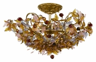 Crystorama 400-GA Fiore 18 Inch Diameter Semi Flush Rustic Ceiling Lighting - Antique Gold