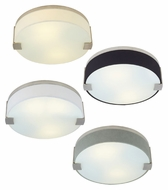 Tech Baxter Fabric Shade Round Flush Mount Contemporary Ceiling Lighting - 14 Inch Diameter