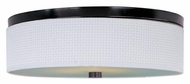 ET2 E95104-100OI Elements Large Oil Rubbed Bronze Finish Flush Mount Lighting - White Weave