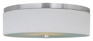 ET2 E95104-100SN Elements Large 20 Inch Diameter Satin Nickel White Weave Overhead Lighting