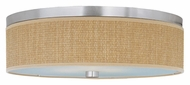 ET2 E95104-101SN Elements Contemporary Grass Cloth Satin Nickel 20 Inch Diameter Ceiling Light