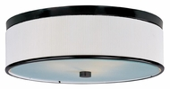 ET2 E95104-102OI Elements Fluorescent 20 Inch Diameter Flush Mount White Pleat Ceiling Lighting Fixture