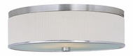 ET2 E95104-102SN Elements Modern Satin Nickel Finish 20 Inch Diameter Flush Mount Lighting - Fluorescent