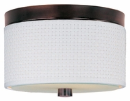 ET2 E95100-100OI Elements Fluorescent Flush Mount Oil Rubbed Bronze White Weave Ceiling Lighting - Small