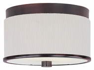 ET2 E95100-102OI Elements Flush Mount Small Fluorescent Oil Rubbed Bronze White Pleat Overhead Lighting