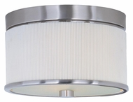 ET2 E95100-102SN Elements Satin Nickel Finish 10 Inch Diameter Small White Pleat Flush Mount Lighting