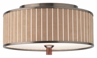 Forecast M271415 Haberdasher Camel Pin Stripe Small 15 Inch Diameter Ceiling Lighting