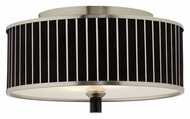 Forecast M271478 Haberdasher Small Brushed Nickel Finish 15 Inch Diameter Black Pin Stripe Ceiling Light