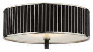Forecast M271578 Haberdasher 20 Inch Diameter Brushed Nickel Black Pin Stripe Large Overhead Lighting