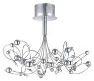 EGLO 90154A Othello Tangled Chrome Line 15 Inch Diameter Ceiling Light Fixture