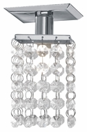 EGLO 85327A Pyton 5 Inch Tall Crystal Ceiling Lighting Fixture - Chrome