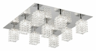 EGLO 89493A Pyton Large 9 Lamp Crystal 22 Inch Wide Overhead Lighting