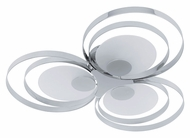 EGLO 91473A Ringo I 3 Lamp 10 Inch Diameter Chrome Ceiling Light Fixture