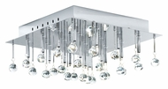 EGLO 89779A Soraya 15 Inch Wide Chrome Finish Crystal Ceiling Light Fixture