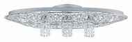 EGLO 91555A Stelaria I Oval 29 Inch Wide Flush Mount Crystal Ceiling Lighting