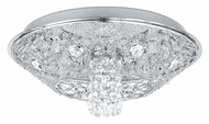 EGLO 91571A Stelaria I Flush Mount 13 Inch Diameter Crystal Flush Lighting - Small
