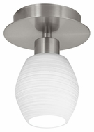 EGLO 90116A Bantry Matte Nickel 6 Inch Tall Wall Or Ceiling Mount Lighting Fixture
