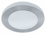 EGLO 90447A Carpi Brushed Aluminum Small 11 Inch Diameter Flush Lighting