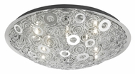EGLO 90149A Cromer Large Contemporary Ring Pattern 19 Inch Diameter Overhead Lighting - Chrome