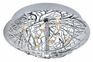 EGLO 91085A Cromer Small 13 Inch Diameter Chrome Branch Pattern Ceiling Lighting Fixture