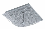 EGLO 91491A Cromer I Large 14 Inch Diameter Chrome Square Pattern Ceiling Light