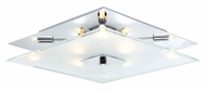 EGLO 90692A Genua I Silver & Chrome Contemporary Ceiling Lighting Fixture - 14 Inches Wide