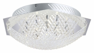 EGLO 90111A Lerida Crystal Flush Mount 16 Inch Diameter Ceiling Lighting Fixture - Small