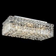 Elegant 2034F16C-RC Maxim Small 4-light Crystal Flush Mount Ceiling Light Fixture