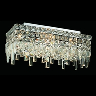 Elegant 2035F16C-RC Maxim Small Crystal Ceiling Light Fixture