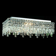 Elegant 2035F24C-RC Maxim 24  Large Clear Crystal Flush Ceiling Light Fixture