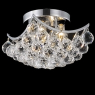 Elegant 9800F10C-RC Corona Chrome Crystal Ceiling Lighting