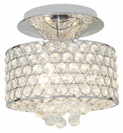 Access 51005-CH/CCL Kristal�3 Lamp Semi Flush Chrome Finish Crystal Ceiling Lighting