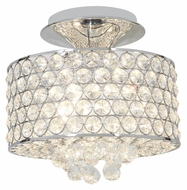 Access 51006-CH/CCL Kristal�18 Inch Diameter 4 Lamp Crystal Semi Flush Mount Lighting