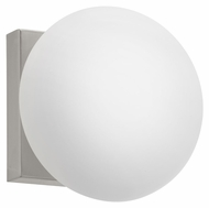 EGLO 89321A Etoo 7 Inch Wide Matte Nickel Finish White Glass Wall Light