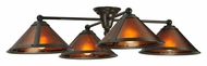 Meyda Tiffany 130746 Van Erp Amber Mica/Rust 36 Inch Wide 4 Lamp Flush Lighting