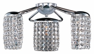 ET2 E20560-20PC Tartan Crystal 3 Lamp Flush Mount Ceiling Light With Polished Chrome Finish