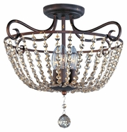 Maxim 22191UR Adriana 18 Inch Diameter Urban Rustic Finish 3 Lamp Flush Lighting