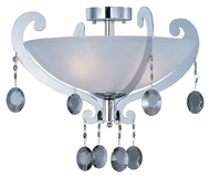 Maxim 22321FTPC Cyclone 21 Inch Diameter Polished Chrome Semi Flush Mount Lighting