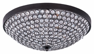 Maxim 39871BCBZ Glimmer Flush Mount 15 Inch Diameter Bronze Ceiling Light With Beveled Crystals - Small
