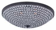 Maxim 39872BCBZ Glimmer Medium Bronze 19 Inch Diameter Crystal Flush Mount Lighting