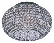 Maxim 39875BCBZ Glimmer 5 Lamp Bronze Flush Mount 15 Inch Diameter Round Ceiling Light Fixture