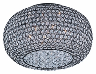 Maxim 39876BCBZ Glimmer Large 18 Inch Diameter Crystal Overhead Lighting Fixture - Bronze
