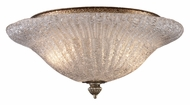 ELK 1511/2 Providence Silver Leaf Finish 13 Inch Diameter Semi Flush Ceiling Light
