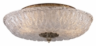 ELK 1513/2 Providence 15 Inch Diameter Silver Leaf Semi Flush Overhead Lighting