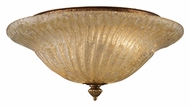 ELK 1521/2 Providence Crystal Gold Leaf 13 Inch Diameter Small Semi Flush Lighting