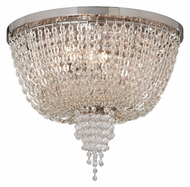 Corbett 141-32 Vixen Polished Nickel 14 Inch Diameter Crystal Overhead Lighting