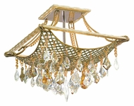 Corbett 125-34 Barcelona 4 Lamp Semi Flush Crystal Ceiling Light Fixture