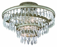 Corbett 132-33 Diva Crystal 13 Inch Tall Semi Flush Mount Home Ceiling Lighting