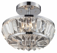 ELK 31192/4 Vienna Semi Flush Mount Crystal Ceiling Lighting - Polished Chrome